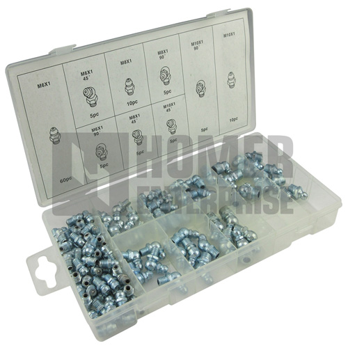 110PC METRIC HYDRAULIC GREASE ASSORTMENT FD-6030